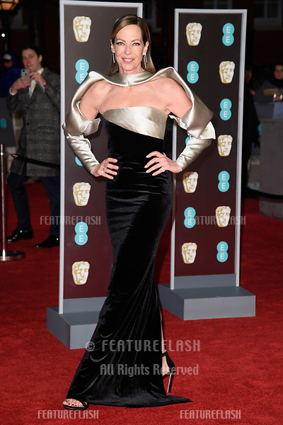 Alison Janney arriving for the BAFTA Film Awards 2018 at the Royal Albert Hall, London, UK. <br /> 18 February  2018<br /> Picture: Steve Vas/Featureflash/SilverHub 0208 004 5359 sales@silverhubmedia.com