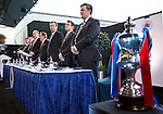 James Easdale, Ally McCoist, Graham Wallace, David Somers, Norman Crighton, Brian Stockbridge and Sandy Easdale take their place at the top table for the start of the Rangers AGM