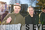 Billy and Mary Fealy at an Anti Abortion protest at Manor on Wednesday..