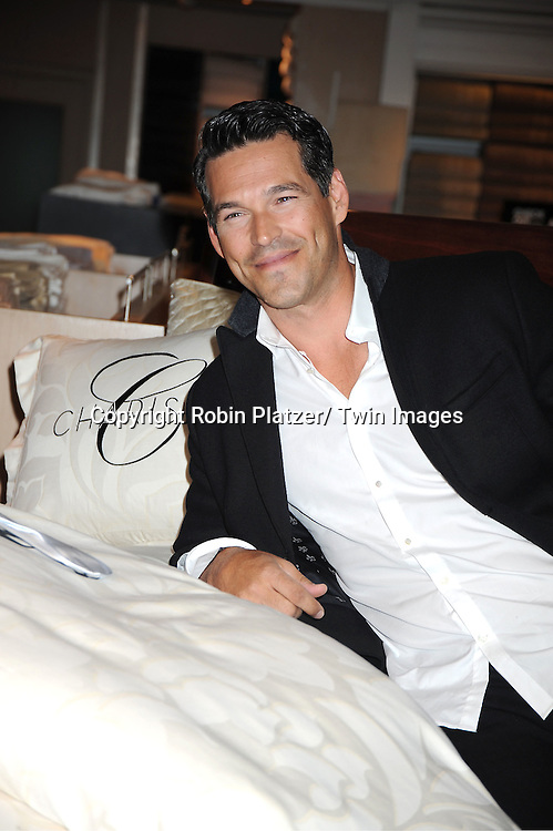 Eddie Cibrian, spokesperson for Charisma Bedding, appearing at Bloomingdales 59th Street for Fashion's Night Out on September 8, 2011 in New York City.
