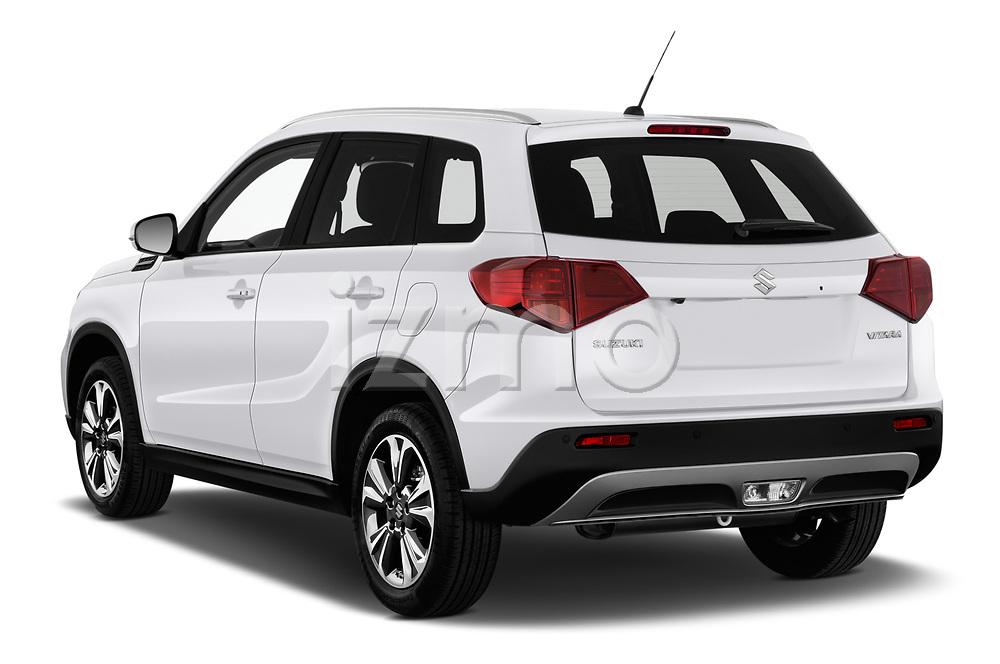 Car pictures of rear three quarter view of a 2019 Suzuki Vitara Grand Luxe Xtra 5 Door SUV angular rear