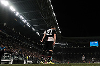 Gonzalo Higuain of Juventus celebrates after scoring the goal of 1-0 for his side<br /> Torino 01/10/2019 Juventus Stadium <br /> Football Champions League 2019//2020 <br /> Group Stage Group D <br /> Juventus - Leverkusen <br /> Photo Federico Tardito / Insidefoto
