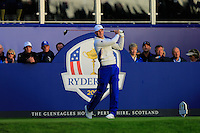 Martin Kaymer (EUR)  during the Saturday morning Fourballs of the 2014 Ryder Cup at Gleneagles. The 40th Ryder Cup is being played over the PGA Centenary Course at The Gleneagles Hotel, Perthshire from 26th to 28th September 2014.: Picture Thos Caffrey, www.golffile.ie: \27/09/2014\