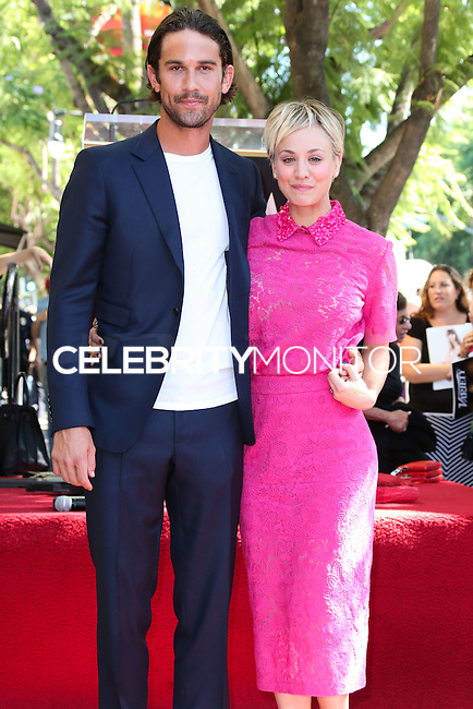 HOLLYWOOD, LOS ANGELES, CA, USA - OCTOBER 29: Ryan Sweeting, Kaley Cuoco at the ceremony honoring Kaley Cuoco with a star in the Hollywood Walk Of Fame on October 29, 2014 in Hollywood, Los Angeles, California, United States. (Photo by Xavier Collin/Celebrity Monitor)
