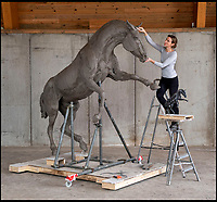 Britain's most rare horse breed immortalised in bronze.