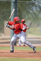 Cincinnati Reds third baseman Kevin Franklin (19) during an Instructional League game against the Texas Rangers on October 7, 2013 at Goodyear Training Complex in Goodyear, Arizona.  (Mike Janes/Four Seam Images)