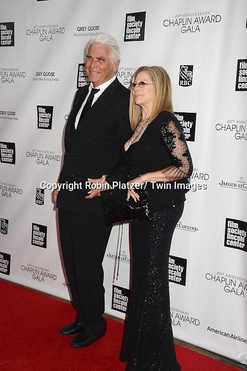 James Brolin and Barbra Streisand attend the  Film Society of Lincoln Center's Gala 40th Annual Charlie Chaplin Award honoring Barbra Streisand on April 22, 2013 in New York City.