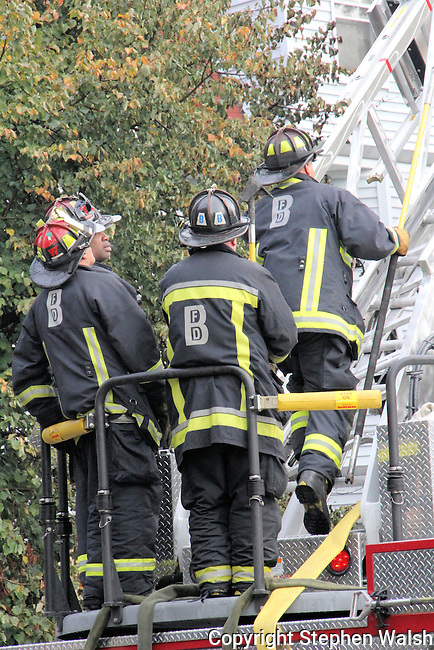 Boston 5 alarm fire at 62-64 Quint Avenue in Allston Saturday October 27, 2012.