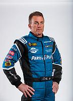 Feb 5, 2020; Pomona, CA, USA; NHRA top fuel driver Clay Millican poses for a portrait during NHRA Media Day at the Pomona Fairplex. Mandatory Credit: Mark J. Rebilas-USA TODAY Sports