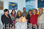 A 'Grappel' of Artists, some of the exhibitors who took part in the Mid Summer Exhibition in the Old Oratory, Cahersiveen were l-r; Anastasia Richards, Carolyn Walsh, Pippa Kearon, Pieter Koning, Gena Keen, Vanessa Tallon & Aine O'Driscoll Proprietor.  Other artists also exhibiting are John Hurley, Geraldine O'Sullivan, Mary Sheehan, Jean Usher, Mark Eldrid, Thelma Mansfield, John Shaltz & Anja Gnauck.