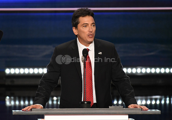 Scott Baio makes remarks at the 2016 Republican National Convention held at the Quicken Loans Arena in Cleveland, Ohio on Monday, July 18, 2016.<br /> Credit: Ron Sachs / CNP/MediaPunch<br /> (RESTRICTION: NO New York or New Jersey Newspapers or newspapers within a 75 mile radius of New York City)