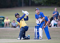 Rishi Patel of Essex hit a rapid 72 during Upminster CC vs Essex CCC, Benefit Match Cricket at Upminster Park on 8th September 2019