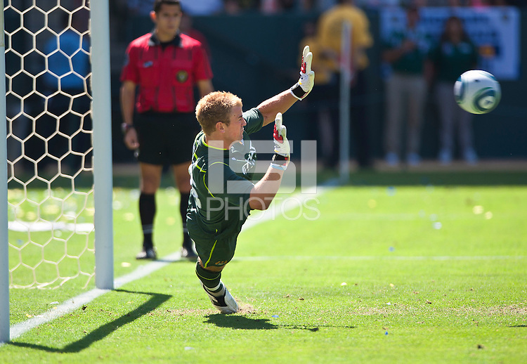 CARSON, CA – July 24, 2011: Joe Hart (25) of Manchester City during the match between LA Galaxy and Manchester City FC at the Home Depot Center in Carson, California. Final score Manchester City FC 1 and LA Galaxy 1. Manchester City wins shoot out 7, LA Galaxy 6.