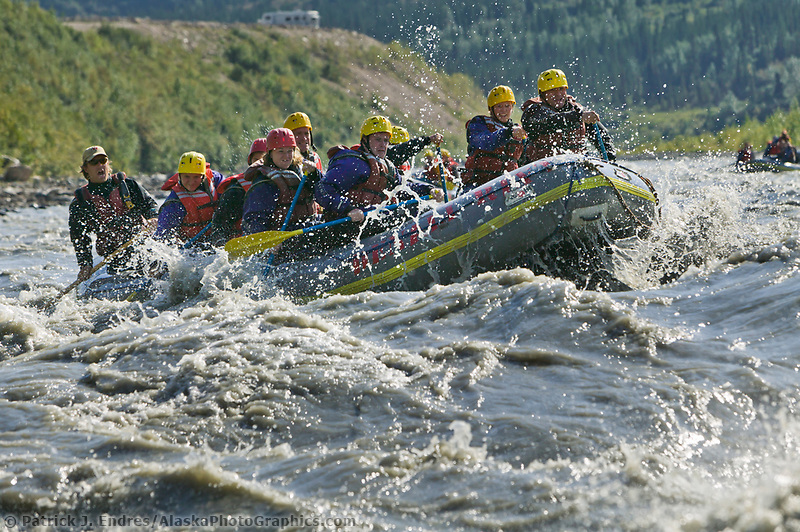 Whitewater river rafting, Nenana River, Denali National Park, Alaska