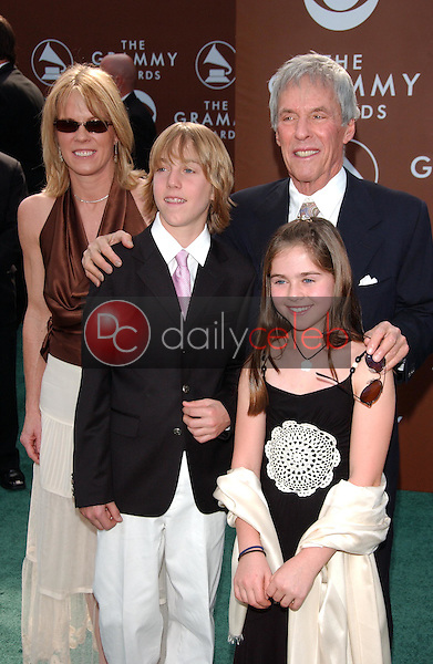 Burt Bacharach and family<br />