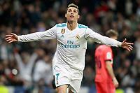 Real Madrid's Cristiano Ronaldo celebrates goal during La Liga match. February 10,2017. (ALTERPHOTOS/Acero)