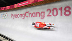 Maciej Kurowski (POL). Mens luge. Pyeongchang2018 winter Olympics. Alpensia sliding centre. Alpensia. Gangneung. Republic of Korea. 11/02/2018. ~ MANDATORY CREDIT Garry Bowden/SIPPA - NO UNAUTHORISED USE - +44 7837 394578