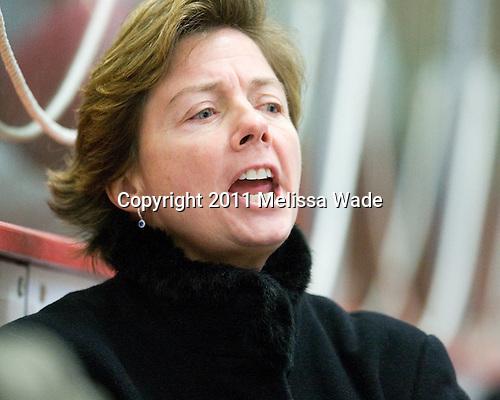 Katey Stone (Harvard - Head Coach) - The visiting Dartmouth College Big Green defeated the Harvard University Crimson 3-2 on Wednesday, November 23, 2011, at Bright Hockey Center in Cambridge, Massachusetts.