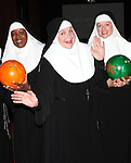 Bambi Jones, Cindy Williams, Jeanne Tinker performing a preview of 'Nunset Boulevard: The Nunsense Hollywood Bowl Show' at the Bowlmor Lanes Thursday, Sept. 27, 2012 in Times Square, New York.