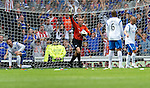 Rangers v St Johnstone....28.08.10  .Graeme Smith protests at Sasa Papc's goal.Picture by Graeme Hart..Copyright Perthshire Picture Agency.Tel: 01738 623350  Mobile: 07990 594431