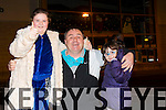 Ciara O'Shea, Ian O'Shea and Emily O'Shea from Tralee  enjoying the New Year's Eve fireworks display at Manor on Wednesday evening
