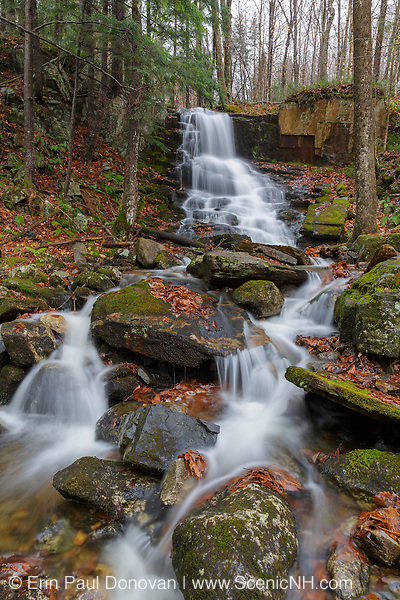 Rollo Fall along the Moose River in Randolph, New Hampshire USA during the autumn months.