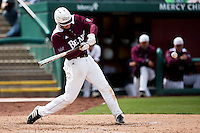 Spencer Johnson #34 of the Missouri State Bears swings at a pitch during a game against the Wichita State Shockers at Hammons Field on May 5, 2013 in Springfield, Missouri. (David Welker/Four Seam Images)