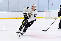 June 26, 2018: Boston Bruins forward Mitchell Fossier (81) skates during the Boston Bruins development camp held at Warrior Ice Arena in Brighton Mass. Eric Canha/CSM