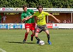 2018-08-12 / Voetbal / seizoen 2018 -2019 / KFC Houtvenne - RC Villers la Ville/ Joren Boeckx (l.KFC Houtvenne) met Donatien Boreux  ,Foto: Mpics.be