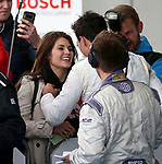 10.09.2017, N&uuml;rburgring, N&uuml;rburg, DTM 2017, 14.Lauf N&uuml;rburgring,08.09.-10.09.2017 , im Bild<br /> Der Sieger Robert Wickens (CDN#6) Mercedes-AMG Motorsport Mercedes me, Mercedes-AMG C 63 DTM k&uuml;sst seine Freundin Karli Woods<br /> <br /> Foto &copy; nordphoto / Bratic