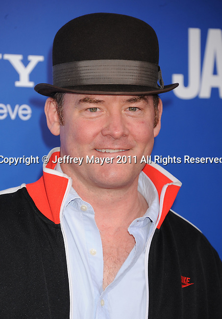 "WESTWOOD, CA - NOVEMBER 06: David Koechner arrives for Los Angeles premiere of ""Jack And Jill"" at Regency Village Theatre on November 6, 2011 in Westwood, California."