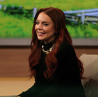 NEW YORK, NY - NOVEMBER 16: Lindsay Lohan at Good Morning America to discuss her new Lifetime movie Liz & Dick November 16, 2012. New York City. Credit: RW/MediaPunch Inc. /NortePhoto
