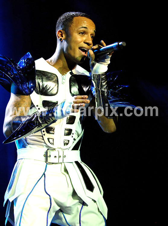 **ALL ROUND PICTURES FROM SOLARPIX.COM**                                             **WORLDWIDE SYNDICATION RIGHTS**     .X Factor winners JLS play live concert at Liverpool Echo Arena on 15th March 2012. The pop band donned futuristic white leather outfits remeniscent of 80s band Cameo, complete with huge shoulder pads.                                                                                                                                                        This pic:   Aston Merrygold                                                                                          JOB REF:   14565   SGD       DATE:   15.03.12                                                         **MUST CREDIT SOLARPIX.COM OR DOUBLE FEE WILL BE CHARGED**                                                                      **MUST AGREE FEE BEFORE ONLINE USAGE**                               **CALL US ON: +34 952 811 768 or LOW RATE FROM UK 0844 617 7637**