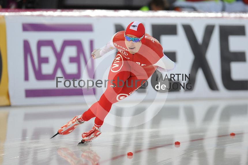 SPEED SKATING: HAMAR: Vikingskipet, 04-03-2017, ISU World Championship Allround, 5000m Men, Jan Szymanski (POL), ©photo Martin de Jong