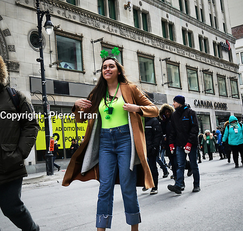 Defile Saint-Patrick 2019<br /> <br /> Photo: Agence Quebec Presse - Pierre Tran