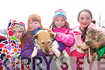 Children and their pets attending the Petmania and Tralee Carers Association Walk in Tralee on Easter Monday. .L-R Patricia Gutteridge,, Niamh O'Regan and Toothins, Rachael O'Regan and Aishling Gutteridge and Abbi