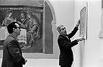 Hanging the Frescoes from Florence Arts Council Exhibition Hayward Gallery London 1969