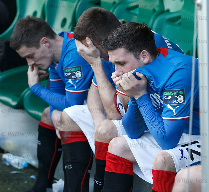 Dejection from Nicky Clark, Lee McCulloch and Ian Black