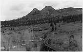 RGS 4-6-0 #20 heading up the branch line to the Boston Coal &amp; Fuel mine on Perin's Peak.<br /> RGS  Franklin Junction, CO  Taken by Peyton, Ernie S. - 3/1948