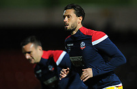 Bolton Wanderers' Jason Lowe during the pre-match warm-up <br /> <br /> Photographer Kevin Barnes/CameraSport<br /> <br /> EFL Leasing.com Trophy - Northern Section - Group F - Rochdale v Bolton Wanderers - Tuesday 1st October 2019  - University of Bolton Stadium - Bolton<br />  <br /> World Copyright © 2018 CameraSport. All rights reserved. 43 Linden Ave. Countesthorpe. Leicester. England. LE8 5PG - Tel: +44 (0) 116 277 4147 - admin@camerasport.com - www.camerasport.com