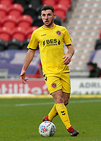 Fleetwood Town's Lewis Coyle in action<br /> <br /> Photographer David Shipman/CameraSport<br /> <br /> The EFL Sky Bet League One - Doncaster Rovers v Fleetwood Town - Saturday 6th October 2018 - Keepmoat Stadium - Doncaster<br /> <br /> World Copyright © 2018 CameraSport. All rights reserved. 43 Linden Ave. Countesthorpe. Leicester. England. LE8 5PG - Tel: +44 (0) 116 277 4147 - admin@camerasport.com - www.camerasport.com