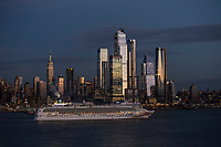 The Norwegian Gem cruise ship departs from New York