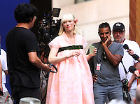 NEW YORK, NY-July 16: Bong Joon-Ho, Tida Swinton shooting on location for Netflix & Plan B Enterainment  film Okja in New York. NY July 16, 2016. Credit:RW/MediaPunch