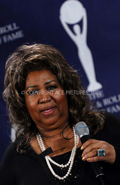 WWW.ACEPIXS.COM . . . . .....March 12 2007, New York City....Aretha Franklin in the press room at the 22nd annual Rock And Roll Hall Of Fame Induction Ceremony at the Waldorf Astoria Hotel..  ....Please byline: Kristin Callahan - ACEPIXS.COM..... *** ***..Ace Pictures, Inc:  ..Philip Vaughan (646) 769 0430..e-mail: info@acepixs.com..web: http://www.acepixs.com