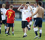 Celebration on the pitch from Stuart McCall