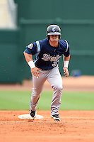 Corpus Christi Hooks outfielder Preston Tucker (33) runs the bases during a game against the NW Arkansas Naturals on May 26, 2014 at Arvest Ballpark in Springdale, Arkansas.  NW Arkansas defeated Corpus Christi 5-3.  (Mike Janes/Four Seam Images)