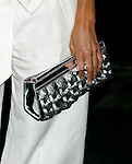 """UNIVERSAL CITY, CA. - August 14: TV Personality Maria Menounos 's purse at a """"Green"""" Gala hosted by Governor Arnold Schwarzenegger at Universal Studios on August 14, 2008 in Universal City, California."""