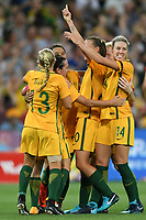 22 November 2017, Melbourne - TAMEKA BUTT (13) of Australia celebrates her goal during an international friendly match between the Australian Matildas and China PR at AAMI Stadium in Melbourne, Australia.. Australia won 5-1. Photo Sydney Low