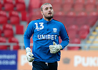 Preston North End's Michael Crowe during the pre-match warm-up <br /> <br /> Photographer David Shipman/CameraSport<br /> <br /> The EFL Sky Bet Championship - Rotherham United v Preston North End - Tuesday 1st January 2019 - New York Stadium - Rotherham<br /> <br /> World Copyright © 2019 CameraSport. All rights reserved. 43 Linden Ave. Countesthorpe. Leicester. England. LE8 5PG - Tel: +44 (0) 116 277 4147 - admin@camerasport.com - www.camerasport.com