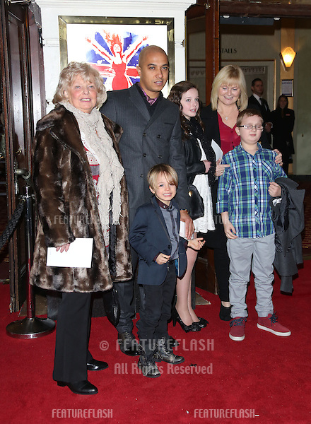 Jade Jones and son Beau arriving for VIVA Forever Spice Girls the Musical held at the Piccadilly Theatre. 11/12/2012 Picture by: Henry Harris / Featureflash